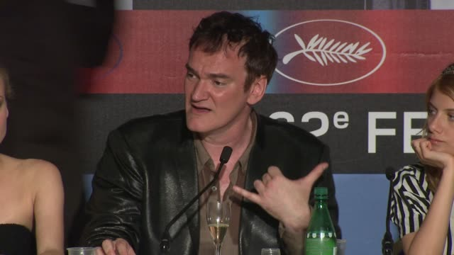 Quentin Tarantino on the characters in the film working with German actors and his inspiration finding characters to play the part at the Cannes Film...
