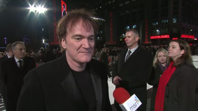 Quentin Tarantino on where he was when his heard about the nomination being sorry that Leonardo DeCaprio wasnÍt nominated for an Oscar at the Django...
