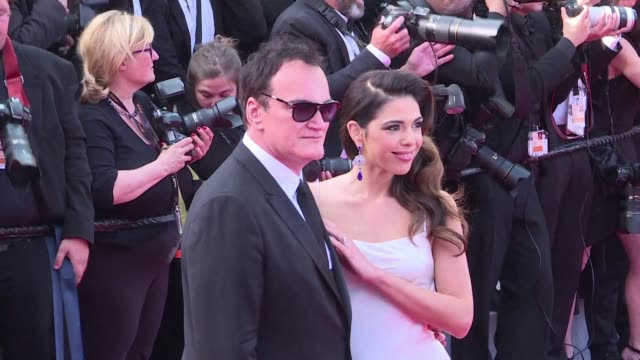 quentin tarantino storms into cannes with once upon a time in hollywood which premiered after a star studded red carpet including american sisters... - studded stock videos and b-roll footage