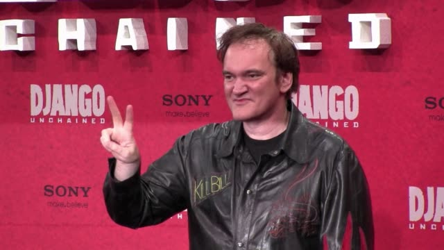 vídeos y material grabado en eventos de stock de quentin tarantino won the best screenplay golden globe on sunday for his bloodspattered spaghetti western tribute django unchained. clean : tarantino... - western usa