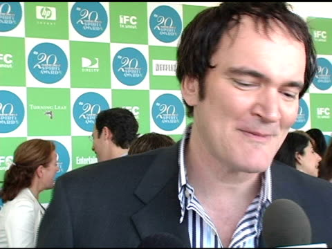 quentin tarentino on martin scorcese and clint eastwood and defining independent filmmaking at the 20th annual independent spirit awards arrivals and... - クリント・イーストウッド点の映像素材/bロール