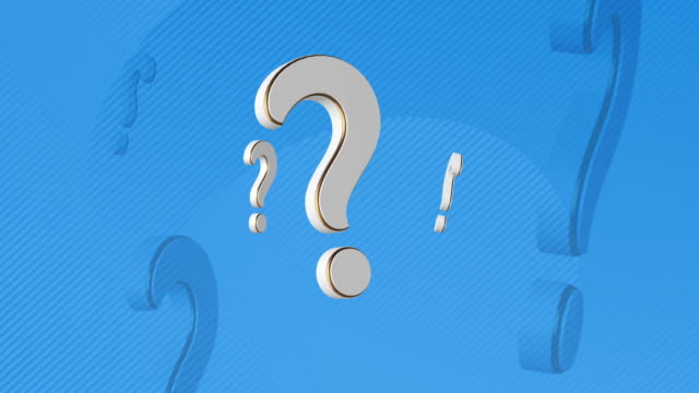question mark 3d illustration - asking stock videos & royalty-free footage