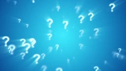 Question Mark Animated Looping Spin Background Blue