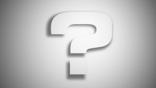 question mark extrusion ? white - question mark stock videos & royalty-free footage