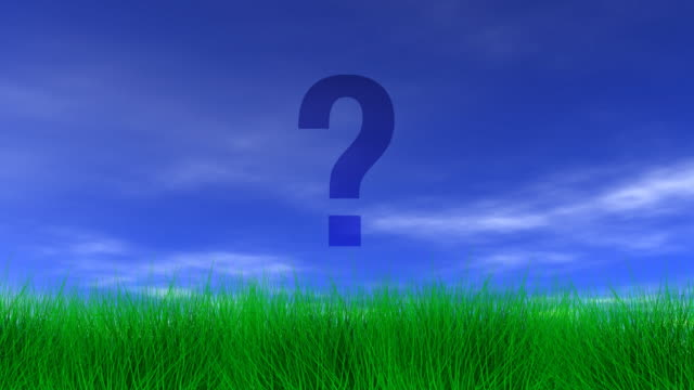 question mark, green grass & blue sky - question mark stock videos & royalty-free footage