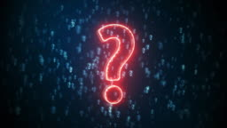 Question mark neon sign Background
