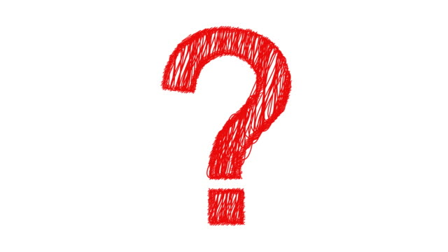question mark scribbles on in red - question mark stock videos & royalty-free footage