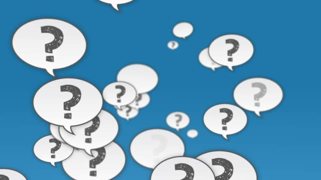question mark speech bubbles flying to camera - asking stock videos & royalty-free footage