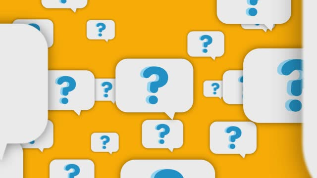 question mark speech bubbles flying to camera - sentencing stock videos & royalty-free footage