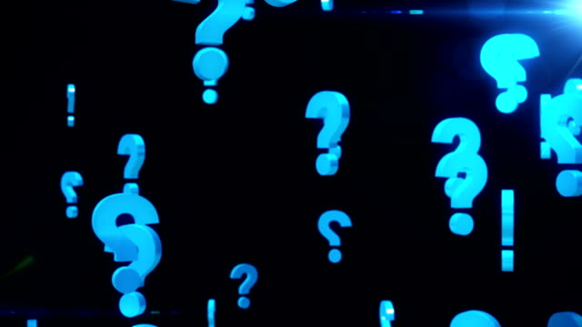 question marks background loop - asking stock videos & royalty-free footage