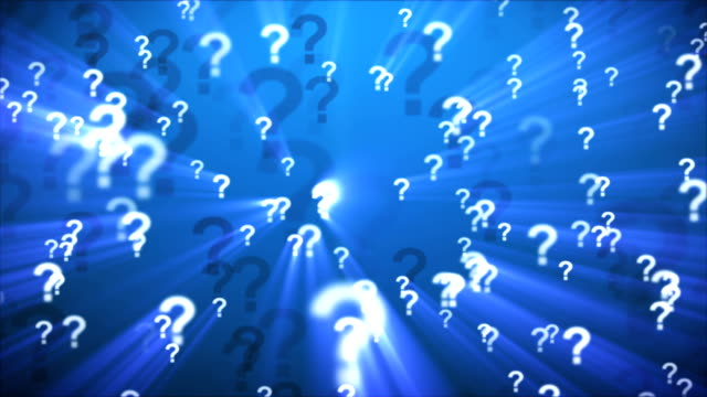 question marks blue - asking stock videos & royalty-free footage