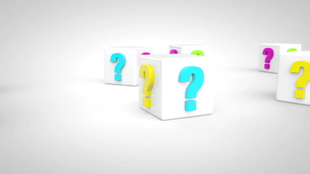 question marks concept - punctuation mark stock videos & royalty-free footage