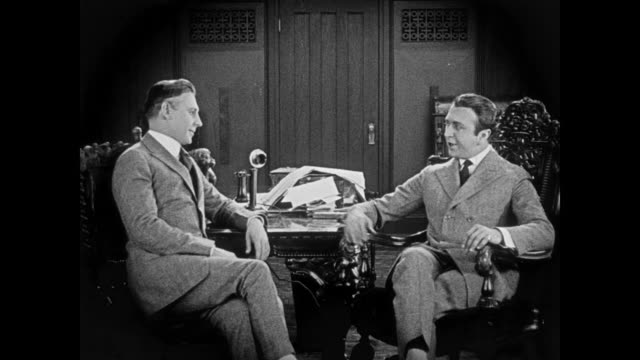 1920 a questionable business deal is discussed - ethik und moral stock-videos und b-roll-filmmaterial