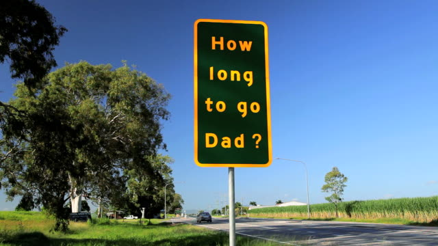 a questionable road sign while travelling, queensland, australia, southern hemisphere, - southern hemisphere stock videos & royalty-free footage