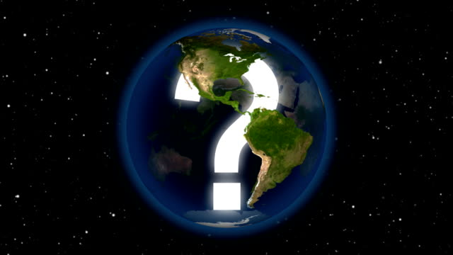 questionmark inside rotating earth. - question mark stock videos & royalty-free footage