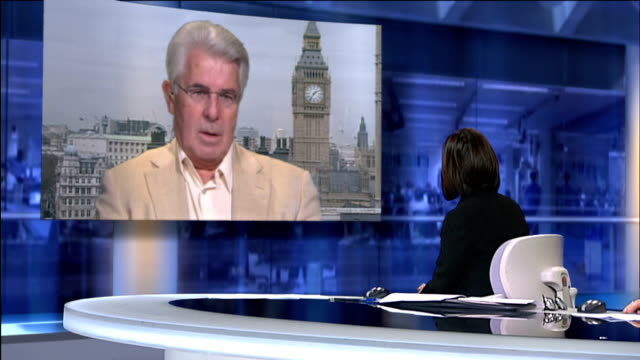 questions over david cameron allowing media into his home england london gir int max clifford live 2way interview from westminster sot - ニナ・ホサイン点の映像素材/bロール