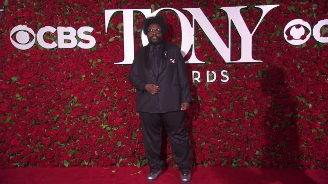 questlove at 2016 tony awards red carpet at the beacon theatre on june 12 2016 in new york city - 70th annual tony awards stock videos and b-roll footage