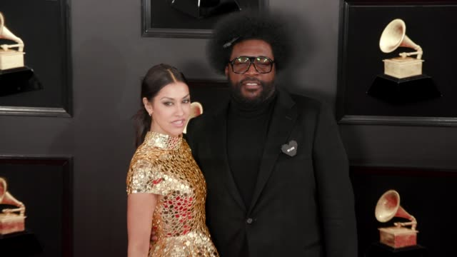 vidéos et rushes de questlove at the 61st grammy awards arrivals at staples center on february 10 2019 in los angeles california – editorial - grammy awards
