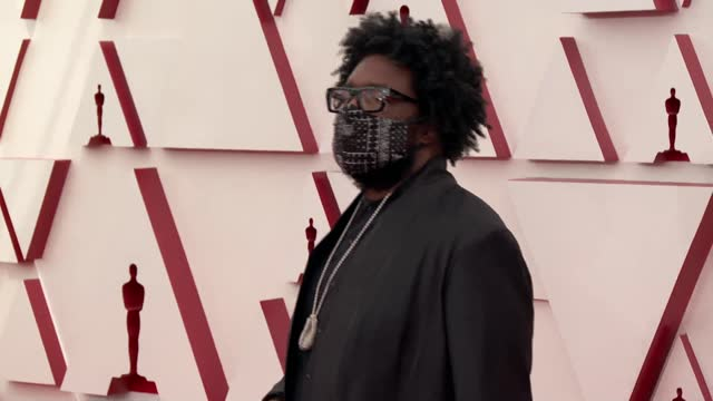 questlove at the 93rd annual academy awards - arrivals on april 25, 2021. - academy awards stock-videos und b-roll-filmmaterial