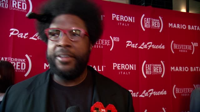 interview questlove talks about being a foodie at the launch of eat drink save lives at eataly rooftop on june 02 2014 in new york city - foodie stock videos and b-roll footage