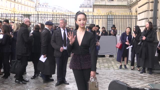 Quian Song attends the Christian Dior show as part of the Paris Fashion Week Womenswear Fall/Winter 2016/2017 on March 4 2016 in Paris France
