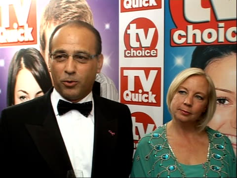Arrivals and winners interviewed 'Dragons' Den' panel Theo Paphitis Deborah Meaden and Peter Jones interview SOT Talk about being friendlier...