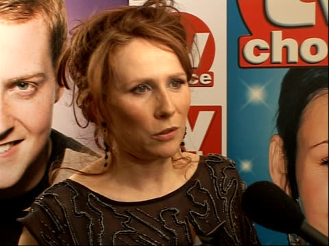 quick and tv choice awards: arrivals and winners interviewed; katherine tate interview sot - on winning best actress award for 'doctor who' -... - doctor who stock videos & royalty-free footage