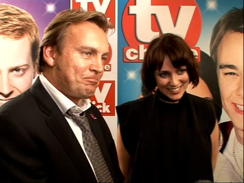 quick and tv choice awards: arrivals and winners interviewed; - on fitting in 'mutual friends' and ashes to ashes' and parenthood - fantastic ratings... - cameo brooch stock videos & royalty-free footage
