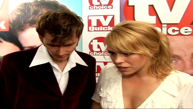 billie piper and david tennant interviews billie piper and david tennant interviews sot billie on working in another episode of doctor who on missing... - doctor who stock videos and b-roll footage