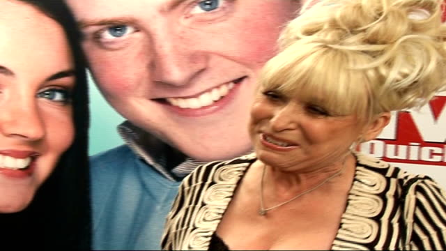 interviews with barbara windsor and bradley walsh barbara windsor interview sot on giving the young actors a talking to before the event about... - peggy loving stock videos & royalty-free footage