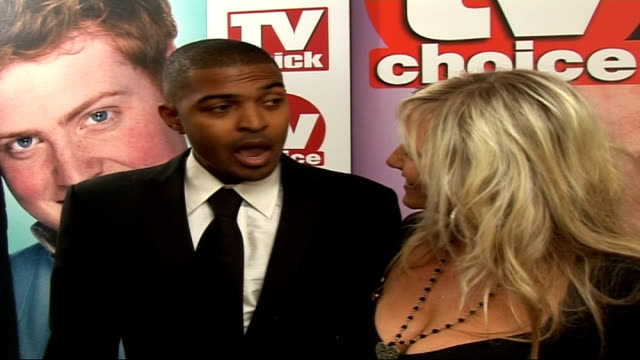 quick and tv choice awards: interviews with tv celebrities; england: london: dorchester hotel: int noel clarke and camille coduri interviews sot - on... - doctor who stock videos & royalty-free footage