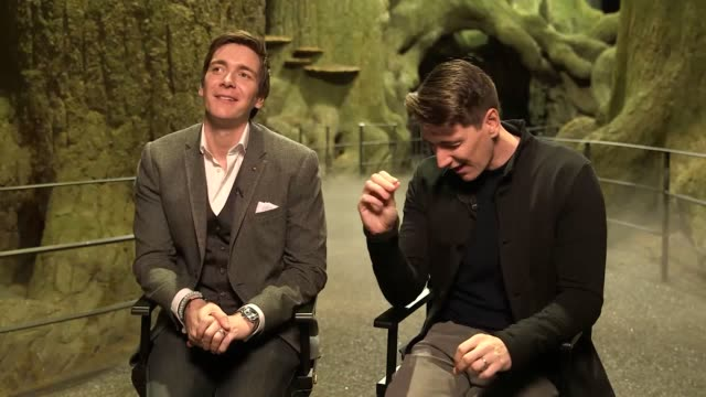 quick fire quiz with actors jason isaacs and evanna lynch and james and oliver phelps as the warner bros. studio tour london opens its new 'forbidden... - warner bros stock videos & royalty-free footage