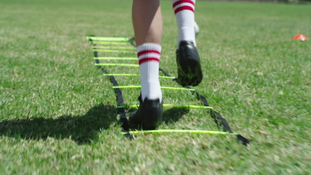 quick movement is a must in this game - sports training drill stock videos & royalty-free footage