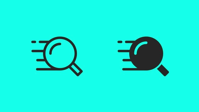 Quick Search Icons - Vector Animate