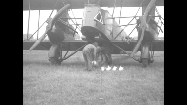 langley field va army filers show accuracy in annual bombing competition the airplane is carefully loaded with powerful bombs before taking off the... - other stock videos and b-roll footage