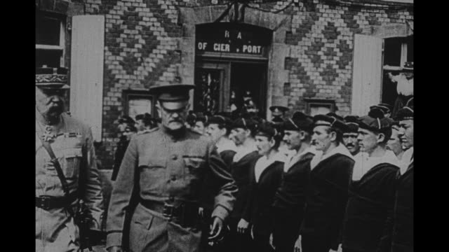 french marine fusiliers / us gen john pershing reviews the unformed men - john pershing stock videos & royalty-free footage