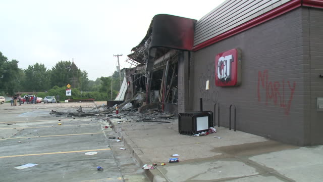 KTVI Quick Trip Destroyed By Rioters After Michael Brown Shot By Police Officer on August 11 2014 in Ferguson Missouri