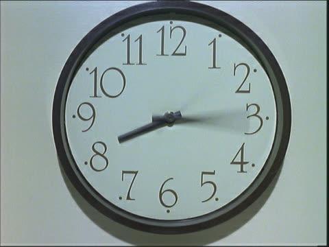 quickly revolving clock hands - digital clock stock videos and b-roll footage