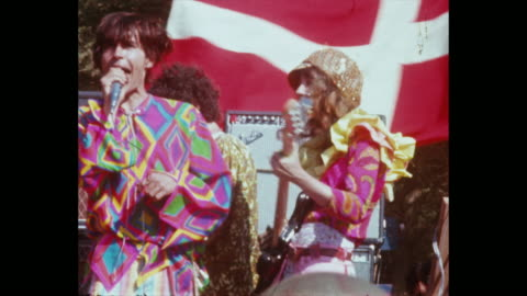 quicksilver messenger service plays at the human be-in summer solstice hippies and rock and roll in golden gate park - 1967 stock videos & royalty-free footage