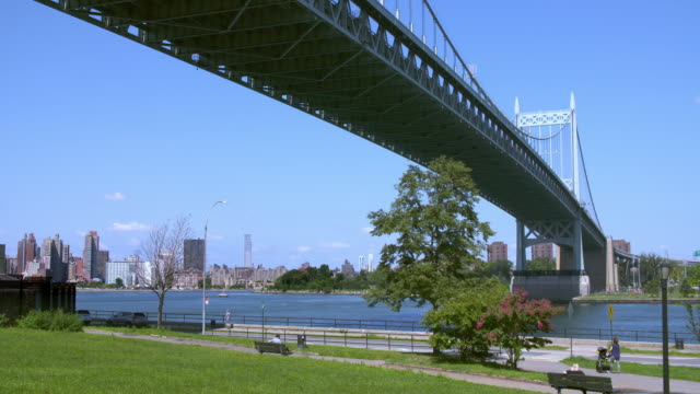 Quiet afternoon under the Robert F. Kennedy Bridge over the East River.