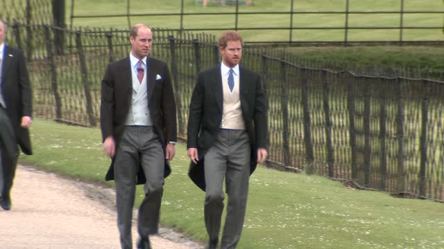 a quiet corner of rural berkshire played host to the society wedding of the year today as pippa middleton married her hedge fund manager fiance james... - prinz william herzog von cambridge stock-videos und b-roll-filmmaterial