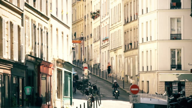 quiet montmartre street - five people stock videos & royalty-free footage