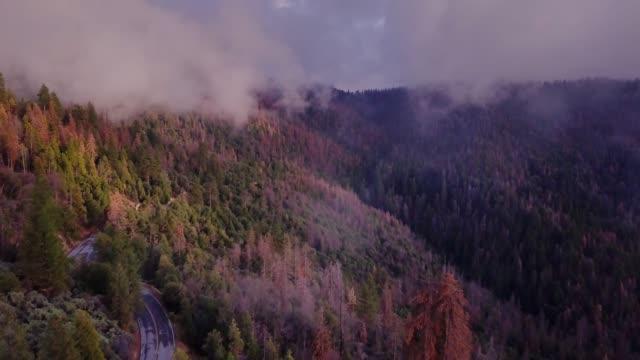 Quiet Mountain Road - Aerial Shot