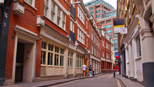 quiet peaceful narrow city street in london, uk. - narrow stock videos & royalty-free footage