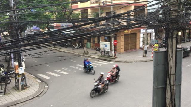 quiet street bike motorbike and danang vietnam - danang stock videos & royalty-free footage