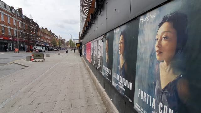 quiet street outside the closed young vic theatre during the coronavirus pandemic on march 20, 2020 in london, england. - silence stock videos & royalty-free footage