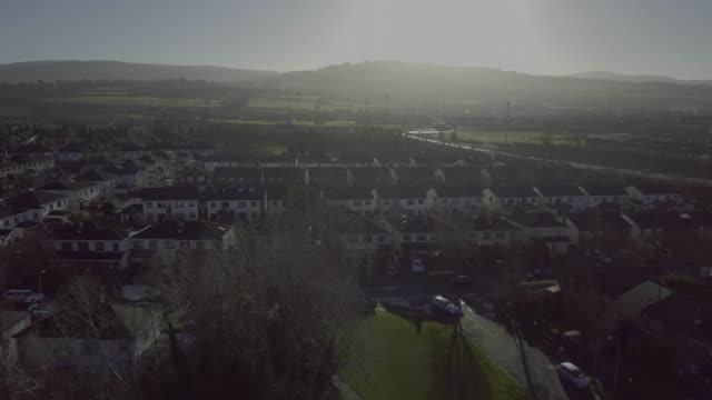 quiet suburb in dublin, ireland - suburban stock videos & royalty-free footage