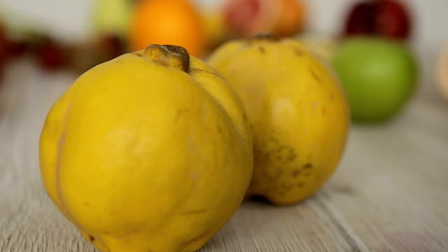 quince close up,dolly shoot - quince stock videos & royalty-free footage