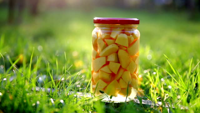 quince compote - jar stock videos & royalty-free footage