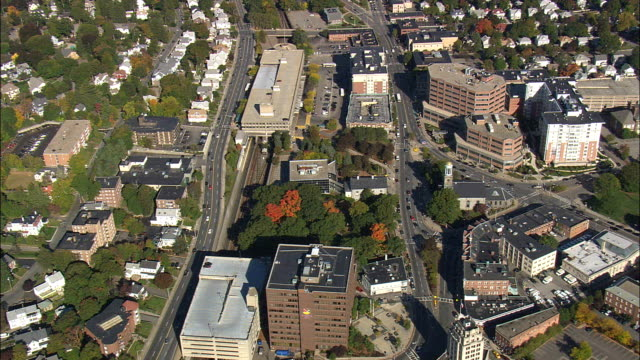 Quincy City Hall  - Aerial View - Massachusetts,  Norfolk County,  United States